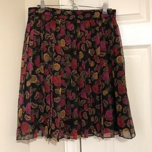 Chaus Floral Pleated Skirt